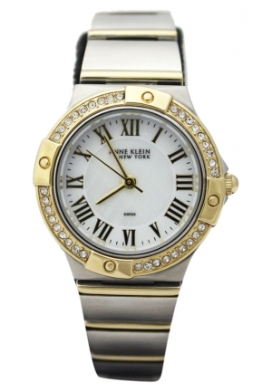 Anne Klein Womens Crystal Gold Stainless Steel Watch