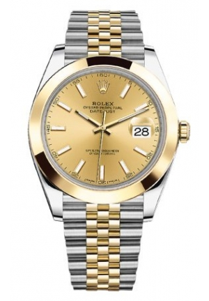 DATEJUST STEEL AND YELLOW GOLD 126303-0010, 41MM