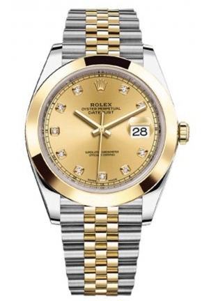 DATEJUST STEEL AND YELLOW GOLD MEN'S WATCH 126303-0012, 41MM