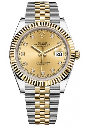 DATEJUST STEEL AND YELLOW GOLD MENS WATCH, 126333-0012, 41MM