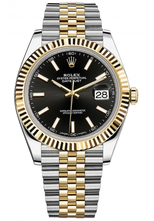 DATEJUST STEEL AND YELLOW GOLD MENS WATCH, 126333-0014, 41MM