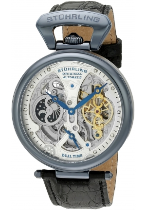 Stuhrling Original Men's Analog Display Automatic Self Wind Black Watch