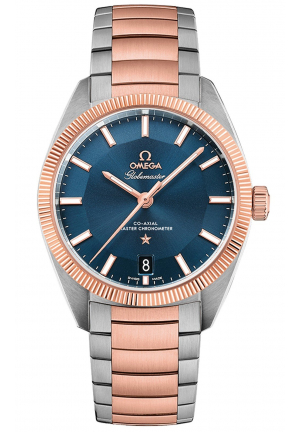 OMEGA CONSTELLATION ROSE GOLD & STEEL BLUE AUTOMATIC