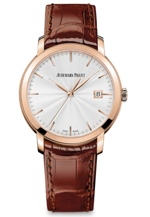 AUDEMARS PIGUET Jules Audemars Silver Dial 18kt Rose Gold Mens Watch 15170OR, 39mm