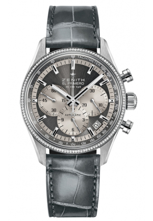 EL PRIMERO AUTOMATIC GREY DIAL LADIES WATCH 38MM
