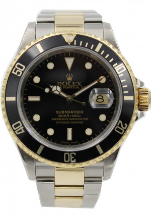 Rolex Submariner in 18k Half Yellow Gold