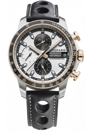 CHOPARD G.P.M.H. Chrono 18-carat rose gold, titanium and steel Back 44.5mm