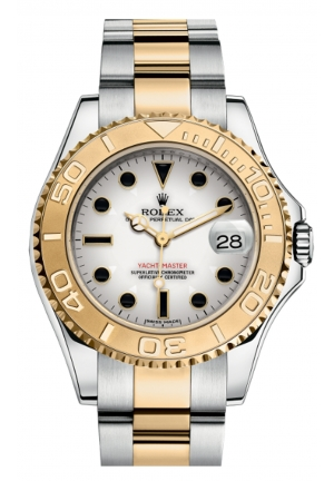 YACHT-MASTER 35 OYSTER STEEL AND YELLOW GOLD 168623-0016, 35MM