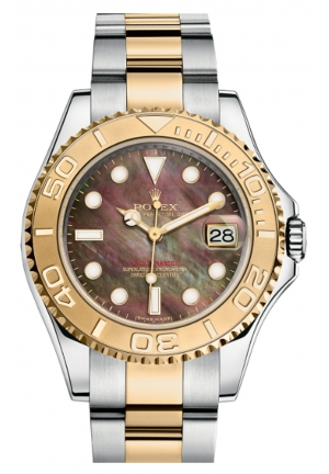 YACHT-MASTER 35 OYSTER STEEL AND YELLOW GOLD 168623-0018, 35MM