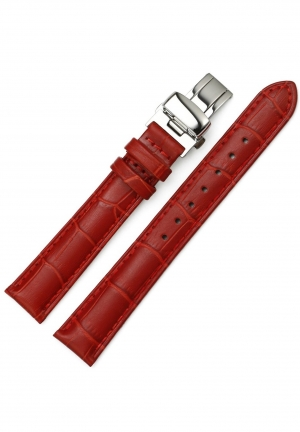 16mm Calf Leather Alligator Grian Womens Watch Band Strap