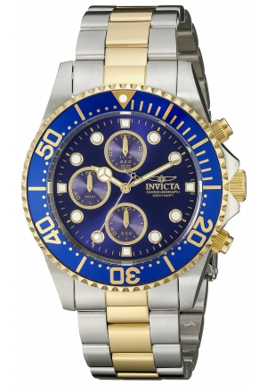 Invicta Men's Pro Diver 18k Gold Ion-Plating and Stainless Steel Watch