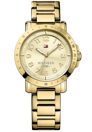 TOMMY HILFIGER Women's Gold-Tone Stainless Steel Bracelet Watch 38mm
