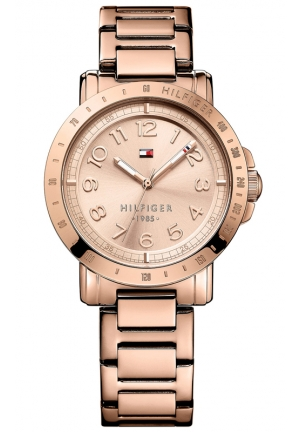 TOMMY HILFIGER Women's Rose Gold-Tone Stainless Steel Bracelet Watch 38mm