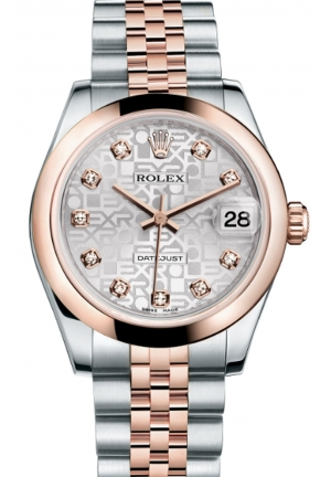 DATEJUST LADY 31 OYSTER STEEL AND EVEROSE GOLD 178241-0040, 31MM