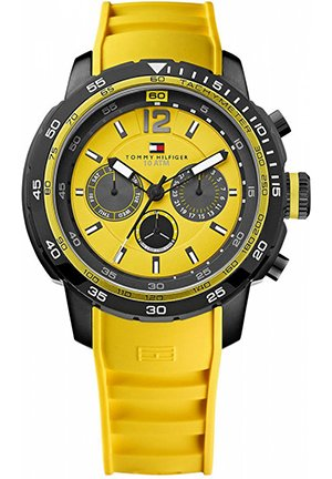 TOMMY HILFIGER Men's Yellow Silicone Strap 46mm