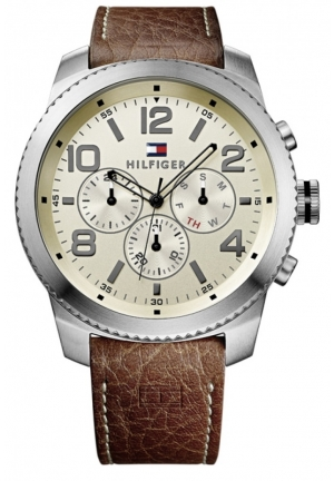 Tommy Hilfiger Men's Casual Sport Analog Display Quartz Brown Watch