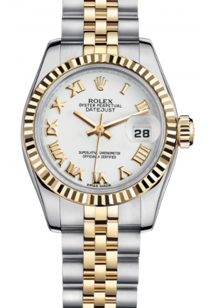 LADY-DATEJUST STEEL AND YELLOW GOLD 179173-0182, 26MM