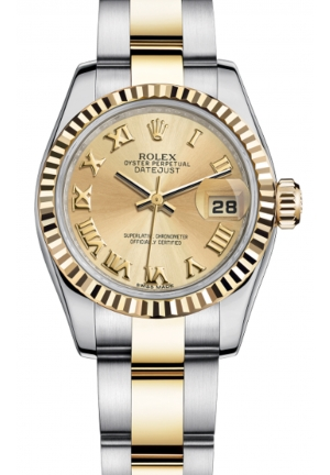 LADY-DATEJUST 26 OYSTER STEEL AND YELLOW GOLD 179173-0186, 26MM