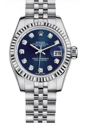 LADY-DATEJUST OYSTER STEEL AND WHITE GOLD 179174-0011, 26MM