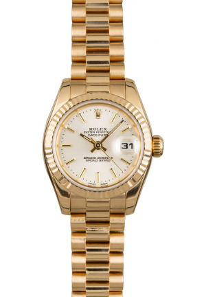 Rolex Datejust Ladies MOP in 18K Yellow Gold