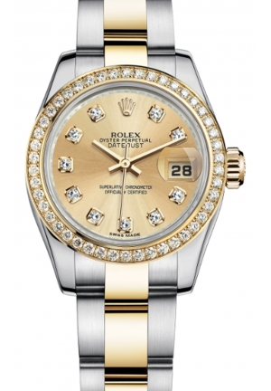 LADY-DATEJUST STEEL, YELLOW GOLD AND DIAMONDS 179383-0001, 26MM