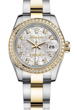 LADY-DATEJUST STEEL, YELLOW GOLD AND DIAMONDS 179383-0002, 26MM