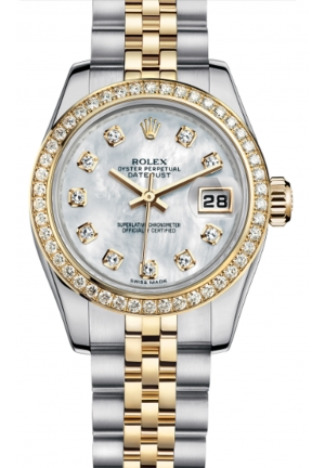 LADY-DATEJUST 26 OYSTER STEEL, YELLOW GOLD AND DIAMONDS 179383-0006, 26MM