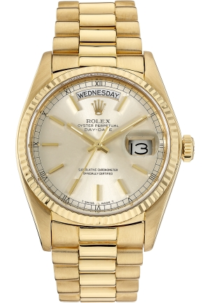 ROLEX 18K Yellow Gold Day-Date Automatic Circa 1979