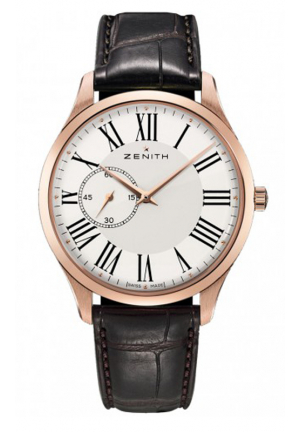HERITAGE ULTRA THIN SMALL SECONDS WHITE DIAL BROWN LEATHER 40MM