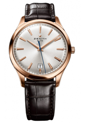 ELITE CAPTAIN CENTRAL SECOND ROSE GOLD SILVER SUNRAY DIAL 40MM