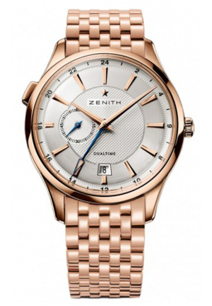 CAPTAIN DUAL TIME SILVER DIAL ROSE GOLD POLISHED 40MM