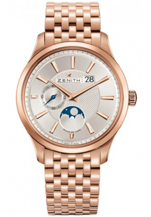 CAPTAIN MOONPHASE SILVER DIAL ROSE GOLD POLISHED MENS 40MM