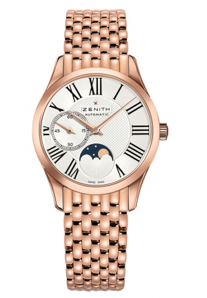 CLASS ELITE MOONPHASE SILVER DIAL ROSE GOLD POLISHED LADIES 33MM