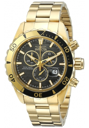 Invicta Men's Pro Diver Analog Display Quartz Gold-Tone Watch