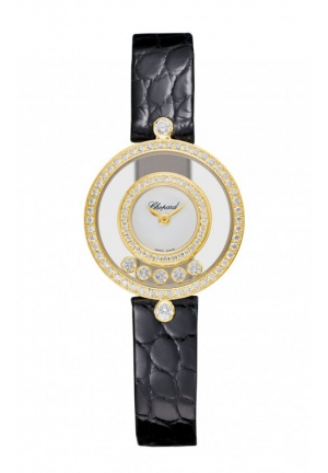 CHOPARD Happy Diamonds Icons Watch 18-carat yellow gold and diamonds Back 24mm