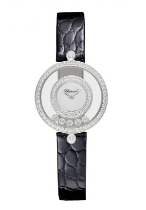CHOPARD Happy Diamonds Icons Watch 18-carat white gold and diamonds 24mm