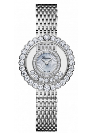 CHOPARD Happy Diamonds 18k white gold and diamonds Icons Watch 26mm
