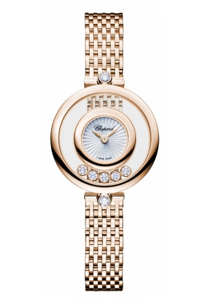 CHOPARD Happy Diamonds 18k rose gold and diamonds Icons Watch
