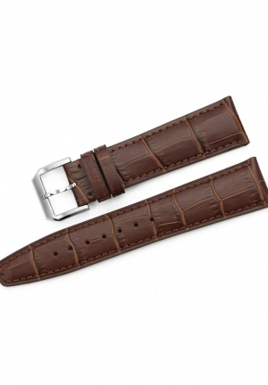 20mm Genuine Calf Leather Embossed Alligator Grain Watch Band