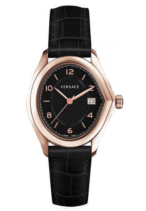 Versace Master Black Dial Rose Gold-plated Ladies Watch