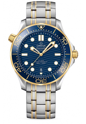 OMEGA SEAMASTER 18kt GOLD & STEEL BLUE AUTOMATIC
