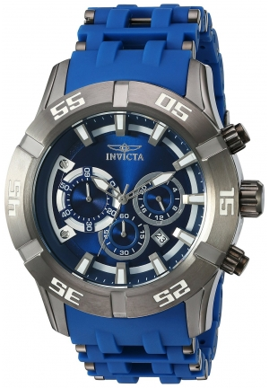 Invicta Men's 'Sea Spider' Quartz Stainless Steel and Polyurethane Automatic Watch