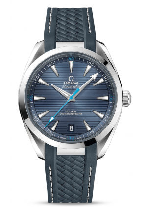 SEAMASTER AQUA TERRA 150M MASTER CO-AXIAL BLUE DIAL BLUE RUBBER MEN'S WATCH  22012412103002