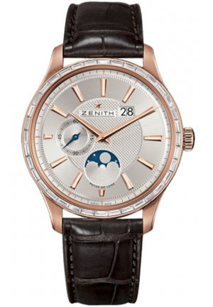 CAPTAIN MOONPHASE SILVER DIAL BROWN LEATHER 40MM