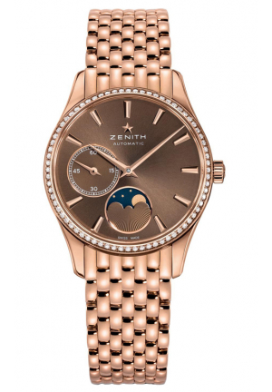 CLASS ELITE ULTRA THIN MOONPHASE BROWN DIAL 18KT ROSE GOLD