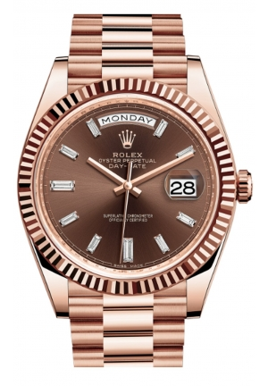 DAY-DATE 40 OYSTER EVEROSE GOLD 228235-0003, 40MM