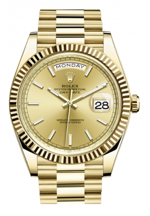 DAY-DATE 40 OYSTER YELLOW GOLD 228238-0003, 40MM