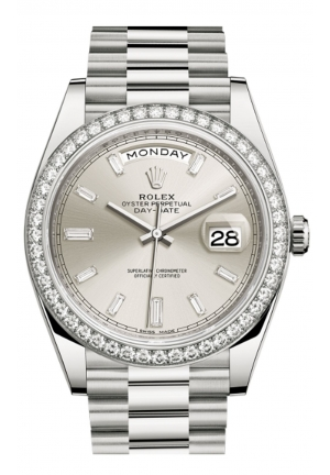 DAY-DATE 40 OYSTER WHITE GOLD AND DIAMONDS 228349RBR-0001, 40MM