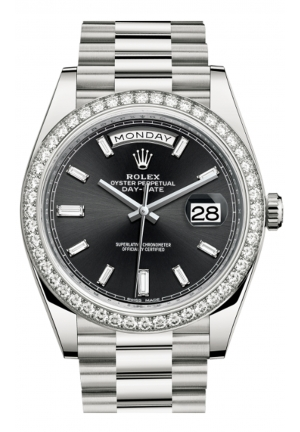 DAY-DATE 40 OYSTER WHITE GOLD AND DIAMONDS 228349RBR-0003, 40MM