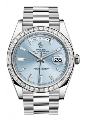 DAY-DATE 40 OYSTER PLATINUM AND DIAMONDS 228396TBR-0002, 40MM